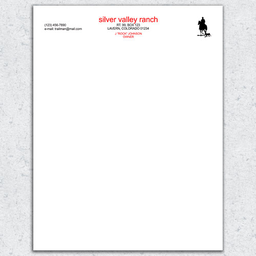 Free Letterhead Template 17 - 2 Color