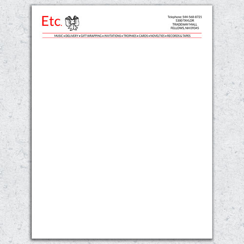 Free Letterhead Template 2 - 2 Color