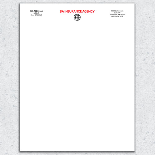 Free Letterhead Template 6 - 2 Color