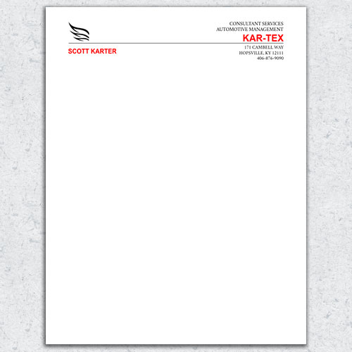 Free Letterhead Template 8 - 2 Color