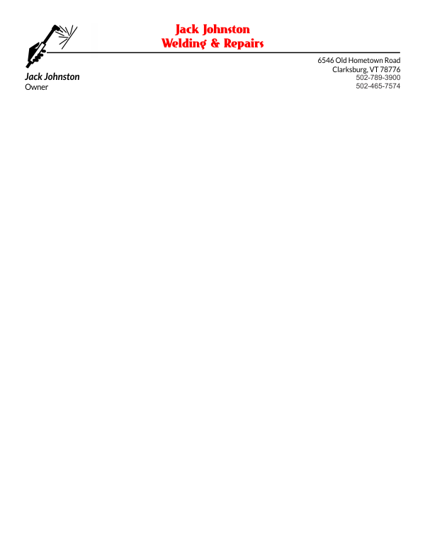 Letterhead Template 3 - 2 Color