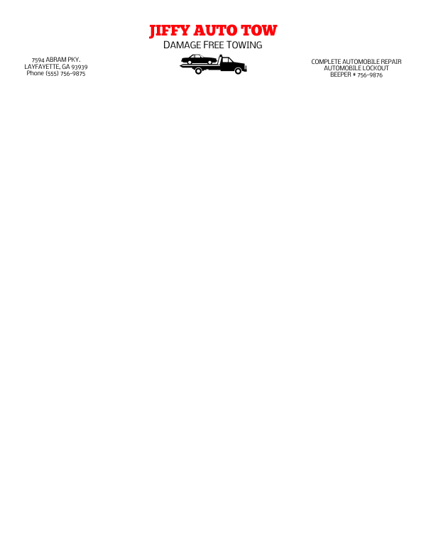 Letterhead Template 4 - 2 Color